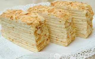 Торт Наполеон творожный – рецепт пошаговый с фото