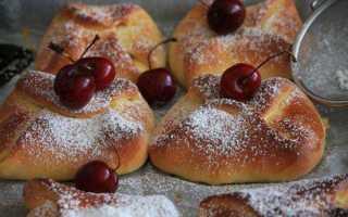 Пирожки с творогом и вишней на сковороде – рецепт пошаговый с фото