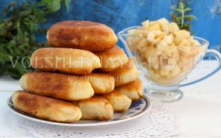 Жареные пирожки с яблоками на сковороде – рецепт пошаговый с фото