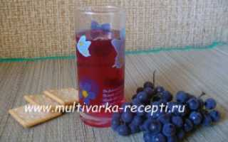 Компот из винограда и груш в мультиварке – рецепт пошаговый с фото
