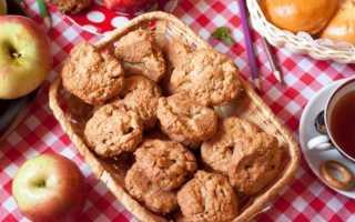 Овсяное печенье на питьевом йогурте с яблоком – рецепт пошаговый с фото