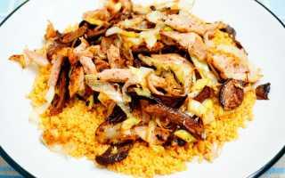Кускус с куриным филе и грибами – рецепт пошаговый с фото