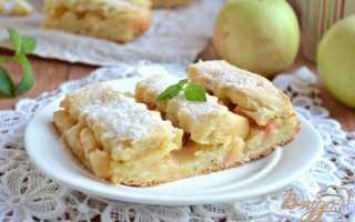 Яблочный пирог на творожном тесте – рецепт пошаговый с фото