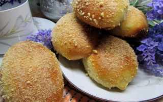 Дрожжевые пирожки на сковороде с вареной сгущенкой – рецепт пошаговый с фото