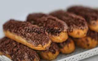 Эклеры с заварным кремом – рецепт пошаговый с фото