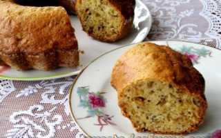 Пирог с орехами и изюмом – рецепт пошаговый с фото