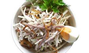 Салат Ташкент с редькой и говядиной – рецепт пошаговый с фото