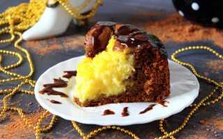 Пирог Вулкан с заварным кремом – рецепт пошаговый с фото