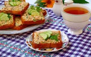 Намазка на хлеб из консервированной сайры – рецепт пошаговый с фото