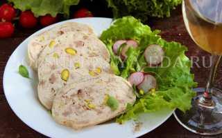 Галантин из курицы – рецепт пошаговый с фото