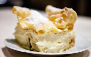 Торт Карпатка из слоёного теста – рецепт пошаговый с фото