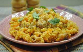 Булгур с курицей на сковороде – рецепт пошаговый с фото