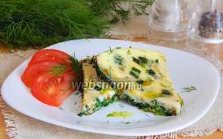 Омлет с крапивой – рецепт пошаговый с фото
