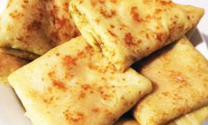 Блины с начинкой из колбасы, огурца и сыра – рецепт пошаговый с фото