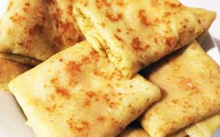 Блины с колбасно-сырной начинкой – рецепт пошаговый с фото