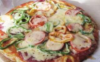 Пицца на сковороде за 15 минут – рецепт пошаговый с фото