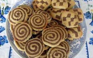 Песочное шоколадное печенье – рецепт пошаговый с фото
