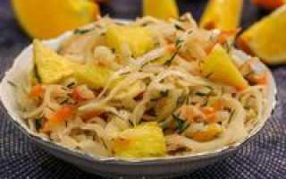Простой салат из квашеной капусты – рецепт пошаговый с фото