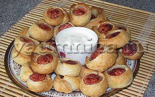 Сосиски в слоеном тесте за 20 минут – рецепт пошаговый с фото