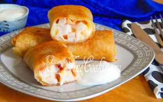 Блины с ветчиной и сыром – рецепт пошаговый с фото