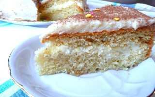 Бисквитный торт с заварным кремом – рецепт пошаговый с фото