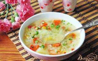Овощной суп с кукурузой и зеленым луком – рецепт пошаговый с фото