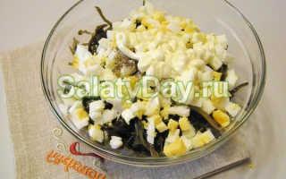 Салат из ламинарии и крабовых палочек – рецепт пошаговый с фото