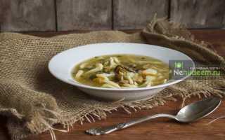 Суп из домашней лапши с грибами – рецепт пошаговый с фото