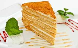 Медовый торт со сметанным кремом – рецепт пошаговый с фото