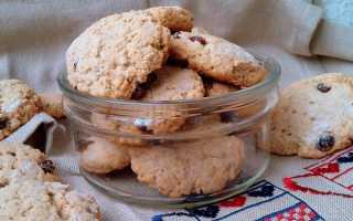 Диетическое печенье из овсяных хлопьев – рецепт пошаговый с фото