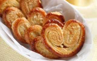Печенье слоеное Ушки с сахаром – рецепт пошаговый с фото