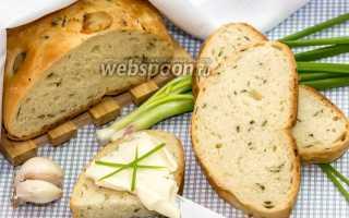 Хлеб с зелёным луком и сыром – рецепт пошаговый с фото