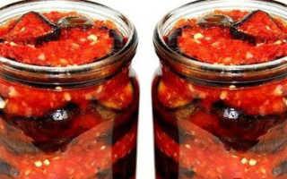 Тещин язык из жареных баклажанов – рецепт пошаговый с фото