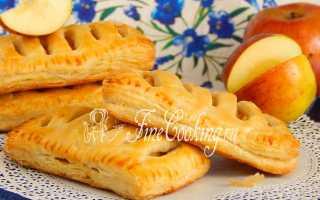 Слойки с яблоками из готового слоеного теста – рецепт пошаговый с фото