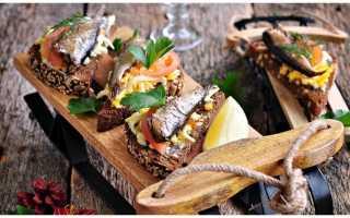 Бутерброды с зеленью, огурцом и шпротами – рецепт пошаговый с фото
