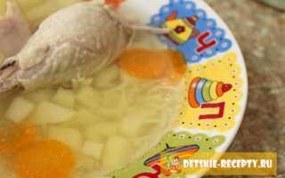 Детский суп на курином бульоне с картофелем, вермишелью и перцем – рецепт пошаговый с фото