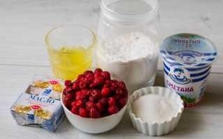 Пирог бисквитный с малиной и яблоками – рецепт пошаговый с фото