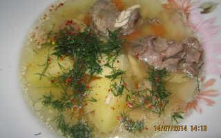 Картофельный суп из куриных потрошков – рецепт пошаговый с фото