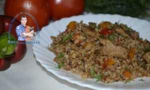 Вкусная гречка с мясом и овощами – рецепт пошаговый с фото