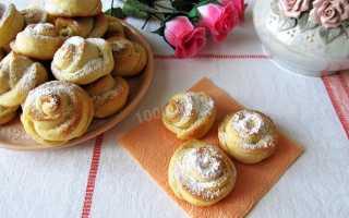 Творожное печенье Розочка с сахарной пудрой – рецепт пошаговый с фото