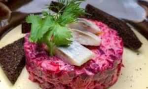 Винегрет с сельдью – рецепт пошаговый с фото