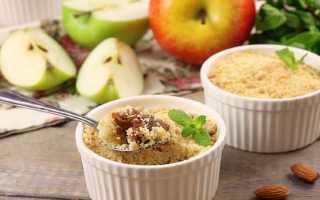 Овсяный крамбл с яблоками – рецепт пошаговый с фото