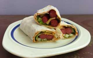 Шаурма с курицей и колбасой – рецепт пошаговый с фото