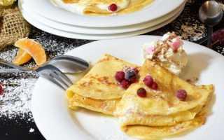 Блинчики без яиц – рецепт пошаговый с фото