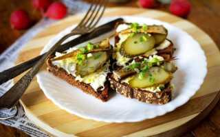 Бутерброды с бананом и соленым огурцом – рецепт пошаговый с фото