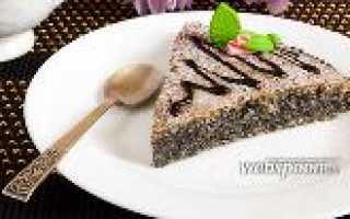 Пирог с маковой начинкой и кокосовой стружкой – рецепт пошаговый с фото