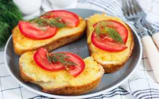 Горячие бутерброды с картофелем на сковороде – рецепт пошаговый с фото