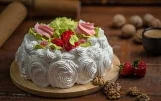 Бисквит с кремом – рецепт пошаговый с фото