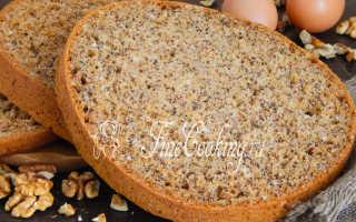 Бисквит с орехами и крыжовником в духовке – рецепт пошаговый с фото