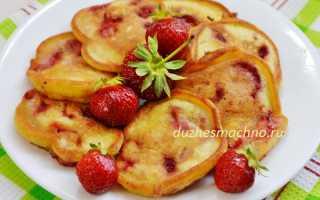 Клубничные оладьи на сливочном масле – рецепт пошаговый с фото